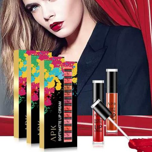 APK SOFT MATTE LONG LASTING LIP CREAMS PACK OF 6