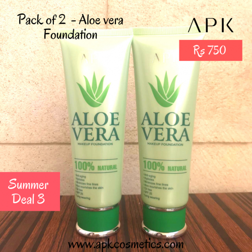 Summer Deal 3 - Pack of 2 Aloevera Foundation